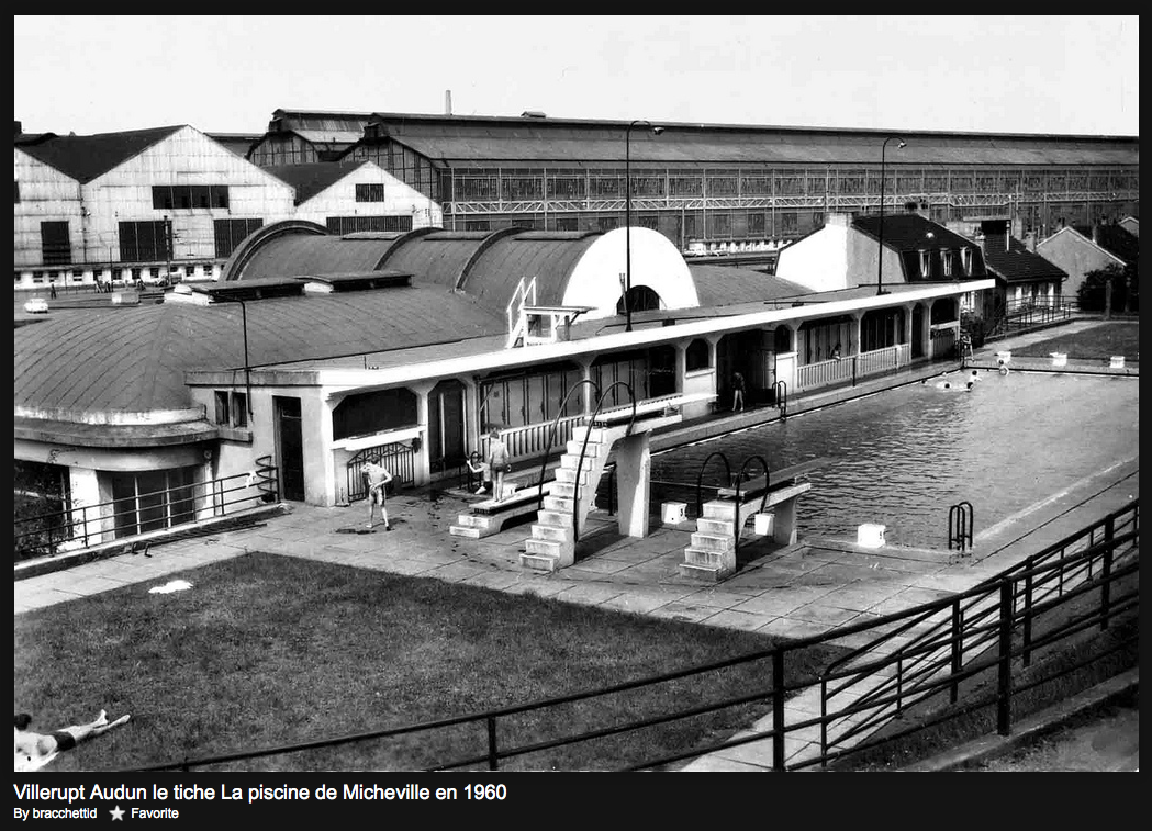La piscine de micheville 1930 1960 et aujourd hui for Piscine ouverte aujourd hui